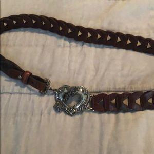 Brighton leather belt Sz M